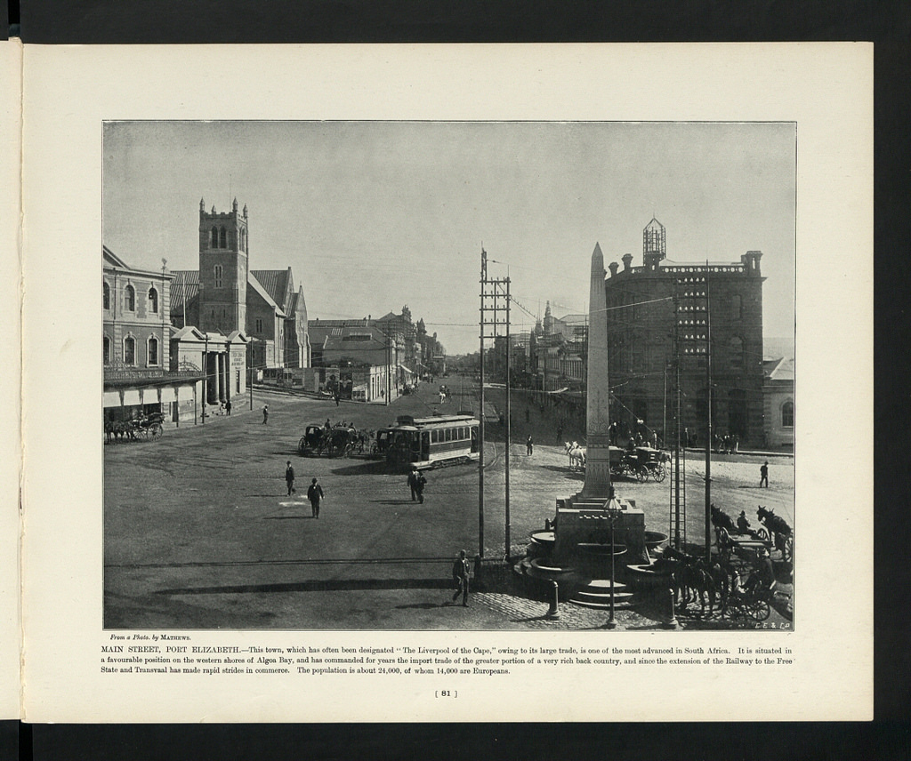main-street-showing-trams-and-st-marys-church-before-the-fire