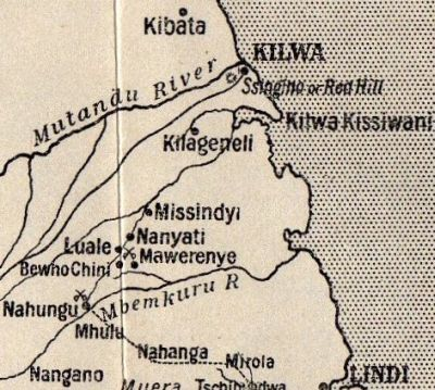 Map of Kilwa in German East Africa