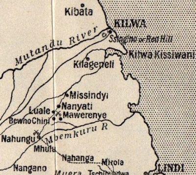 Map of Kilwa in German East Africa