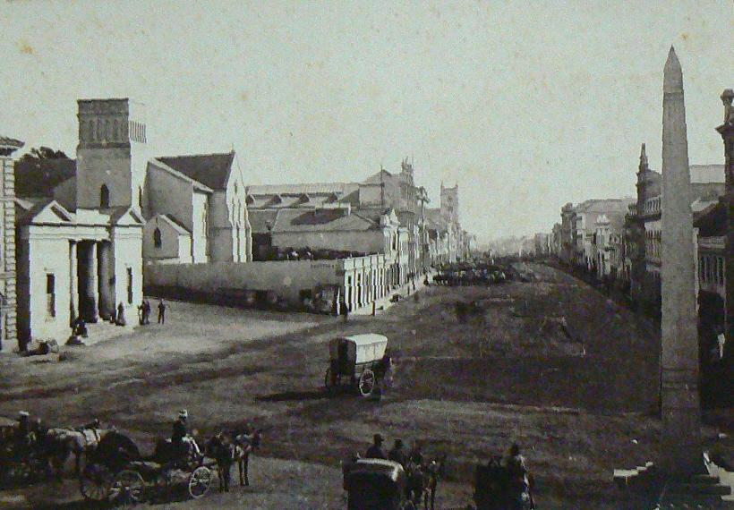 Photo taken in 1853 from Market Square looking down Main Street