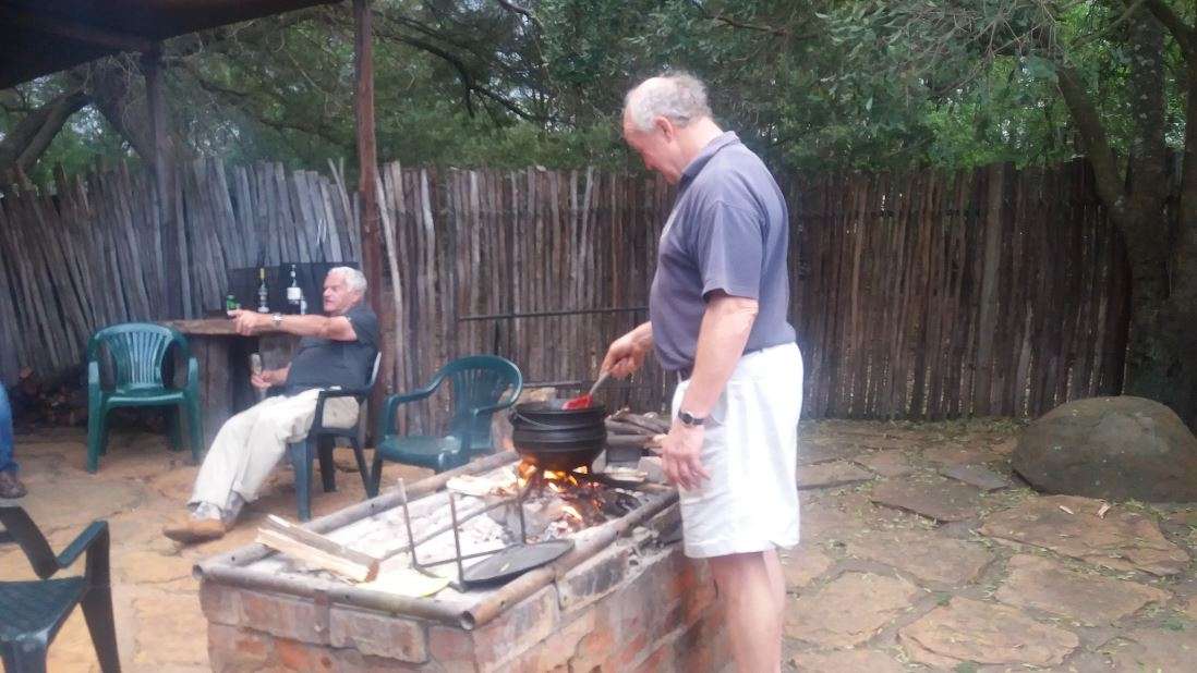 Our chef, Peter, hard at work making a curry chicken potjie
