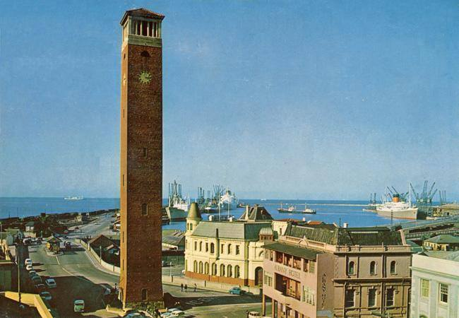 the-campanile-viewed-from-the-other-side-with-the-customs-house-to-the-right-of-it-on-the-right-the-old-albany-hotel-can-be-seen
