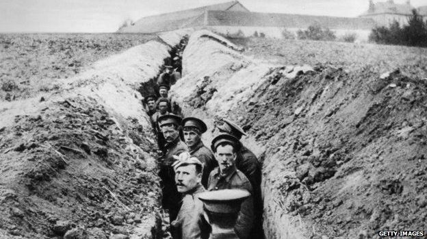 Trenches epitomised WW1