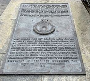 Bathurst toposcope plaque for Cuyler