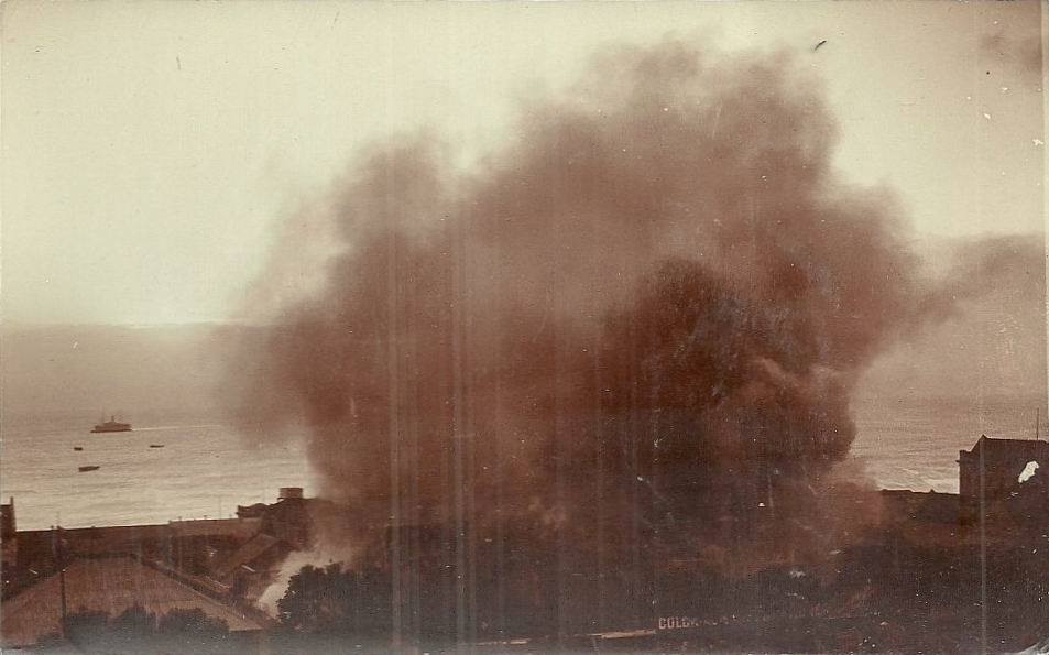 Fire in Central Port Elizabeth in 1913