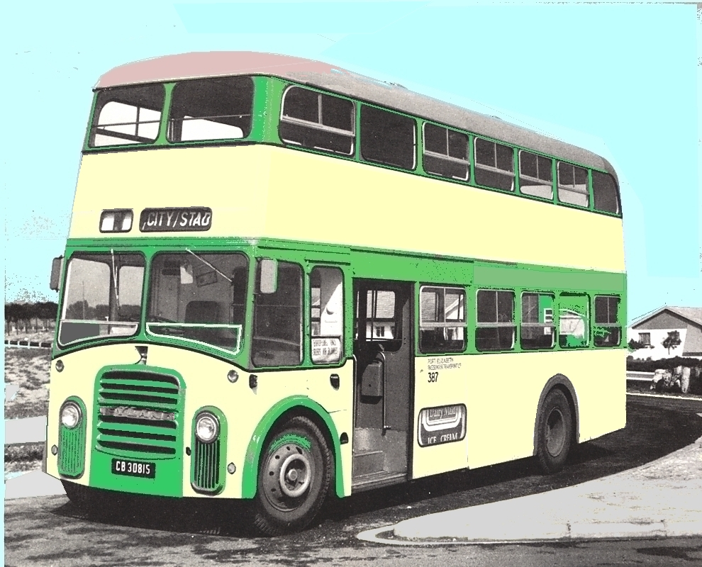 First forward-entrance double-decker - Leyland 72-seat Busaf-bodied PD3A2 of 1964