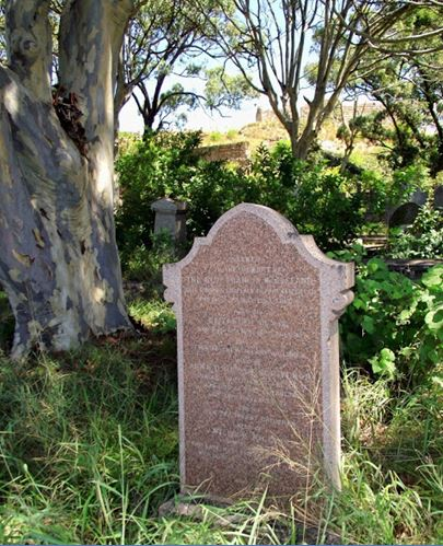 Gravestone of the Reverend Francis McCleland