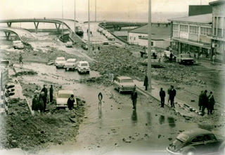 Bottom of Albany Road - Aftermath of the 1968 Floods