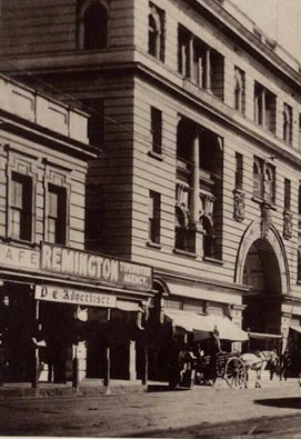Old Mutual Arcade with Remington Typewriters and the PE Advertiser