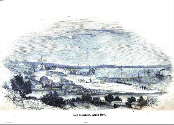 Sketch of Port Elizabeth from book by John Centlivres Chase