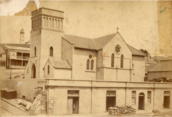 St Mary's Church after the sale of its Main Street frontage in 1843