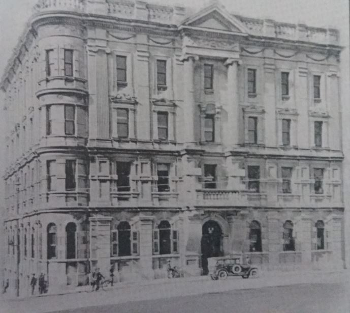The Adolph Mosenthal & Co's Head Office opened on 5 February 1905. Architects Smith & Dewar. Demolished 1974 for Norwich Union Building