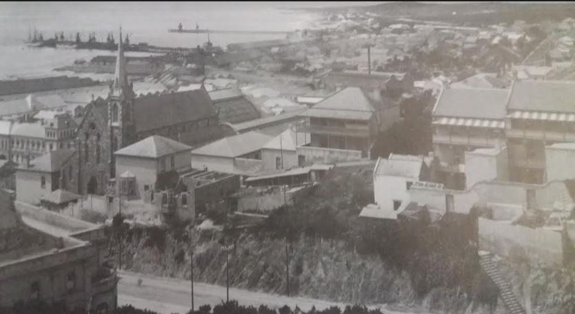 The South Jetty and the Dom Pedro Jetties circa 1906