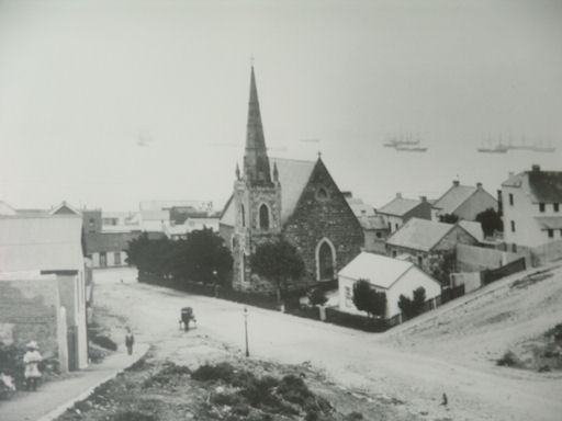 The original St Paul's Anglican Church in Albany Road
