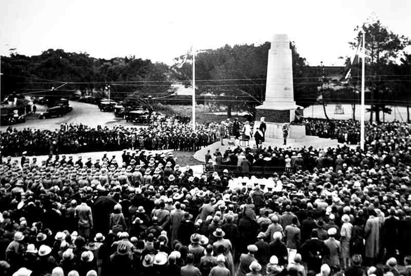 Unveiling of the Cenotaph on 11th November 1929 at the entrance to St. George's Park