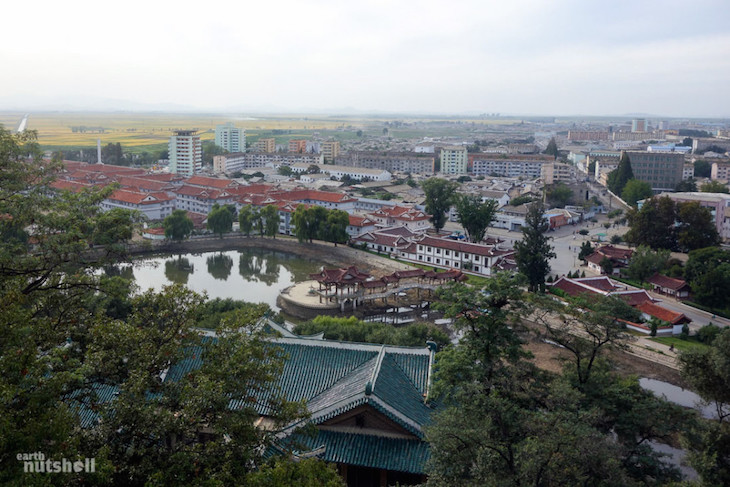 """Folklore Street"" developed in the city of Sariwon, directly south of Pyongyang. Its purpose is to present a romanticized version of ancient Korea"