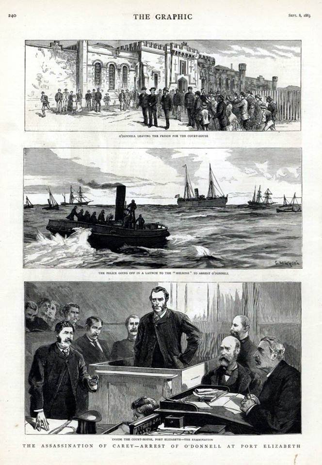 Assassination of Carey and Arrest of O'Donnell in Port Elizabeth 8 September 1883