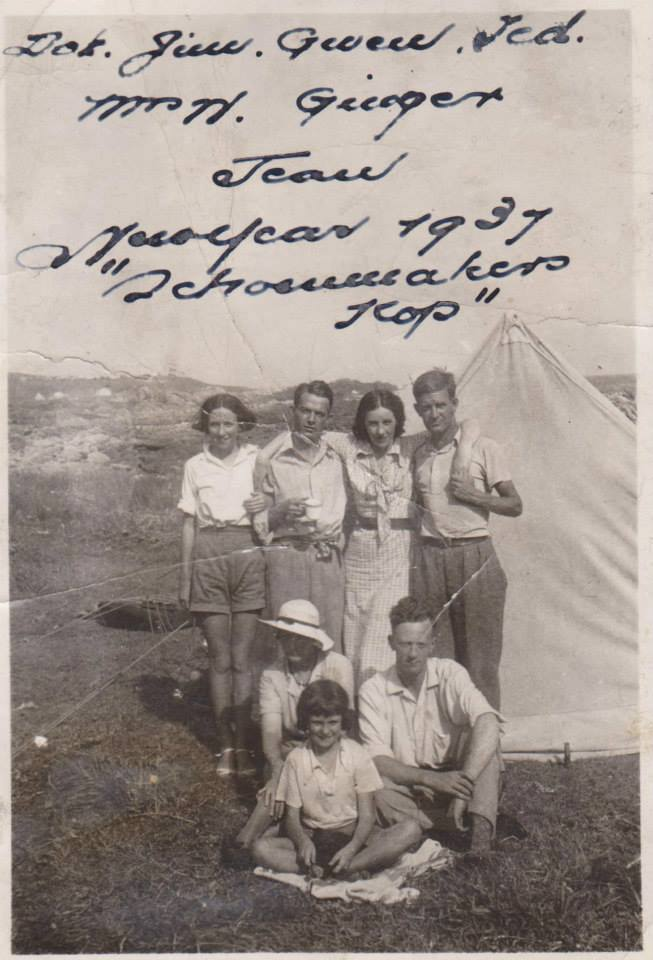 Camping at Schoenmakerskop in 1937