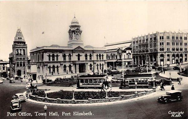 City Hall in 1920's with trams