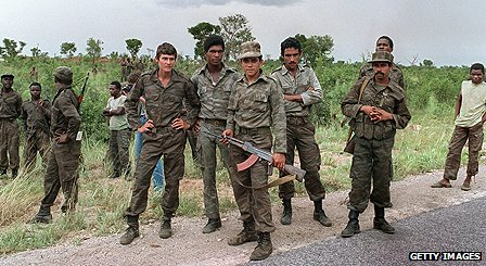 Cuban military personnel in Angola