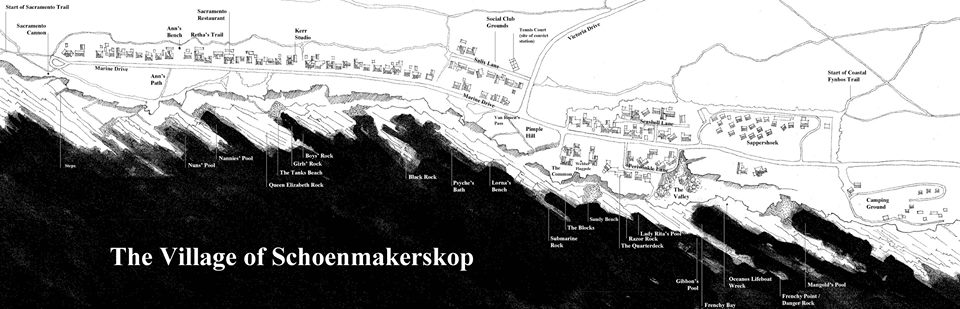 Map of Schoenmakerskop