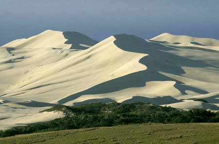Sand dunes at Wood Cape similar to Drift Sands