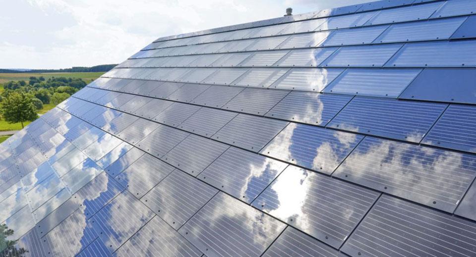 Roof solar tiles