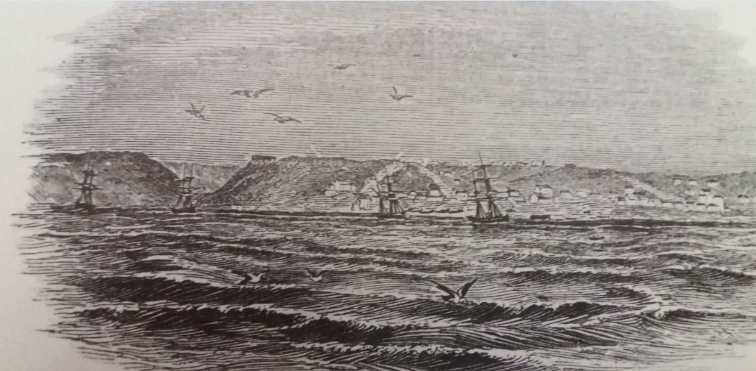 An early view of Port Elizabeth from the Illustrated London News dated 24th June 1843