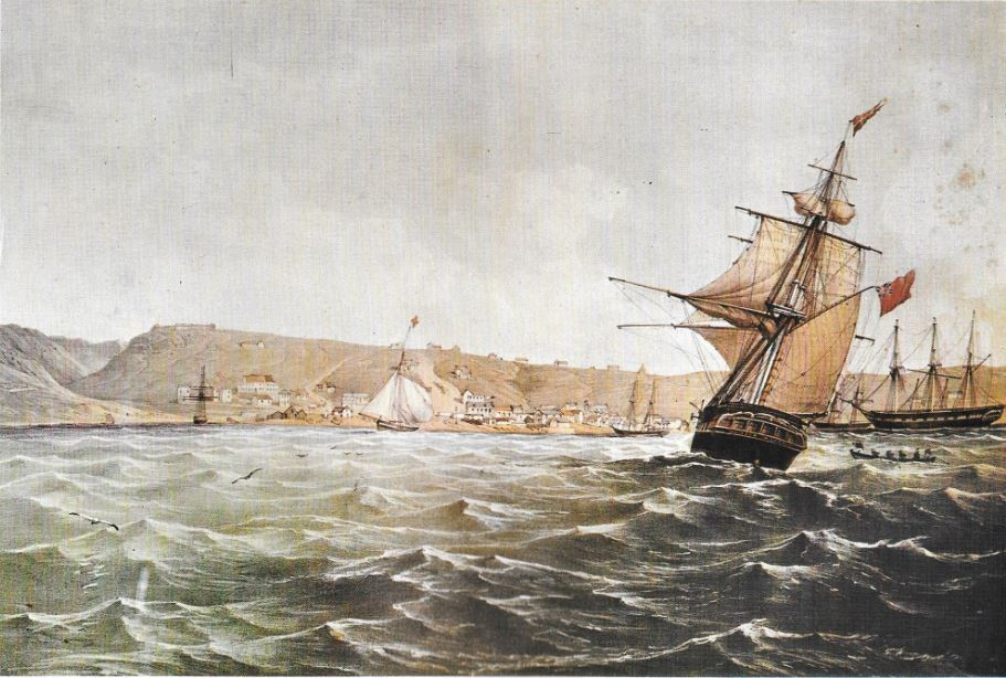Ships in Algoa Bay by Thomas Baines