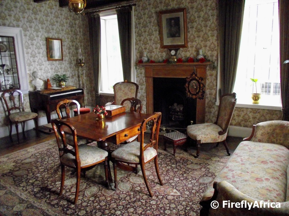 The sitting room at No 7 Castle Hill