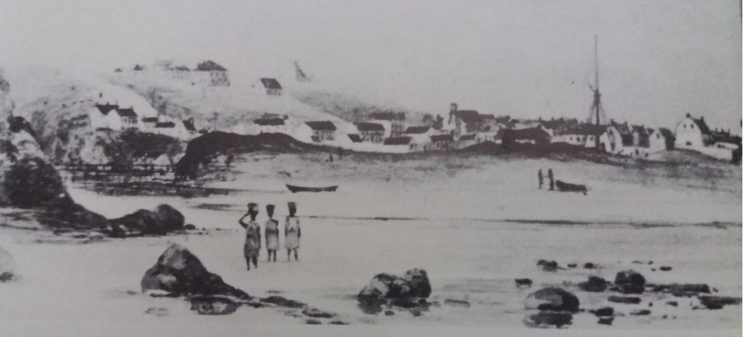 View of No 7 Castle Hill from South End circa 1840 - 1845