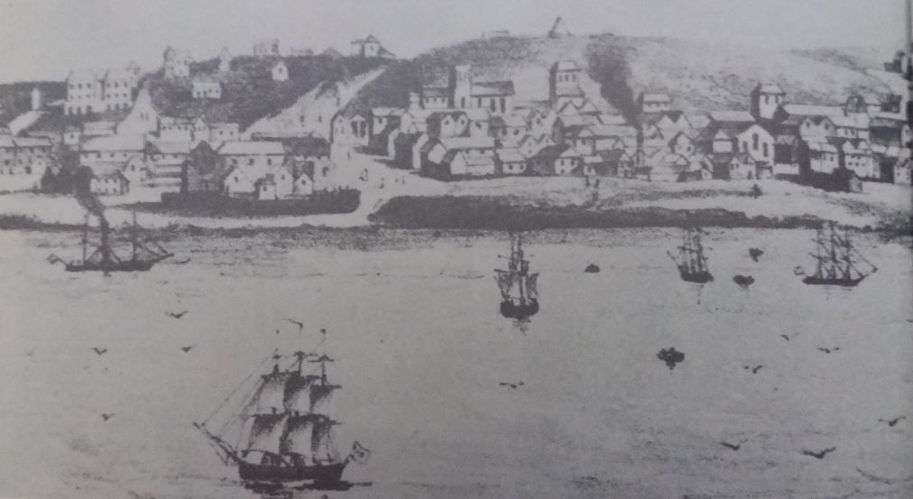 View of Port Elizabeth circa 1940 with both St Mary's Church & No 7 Castle Hill visible