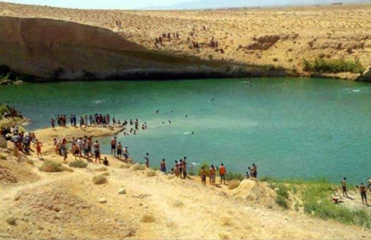 A mysterious lake, over 10 metres deep. which appeared overnight in the Tunisian desert
