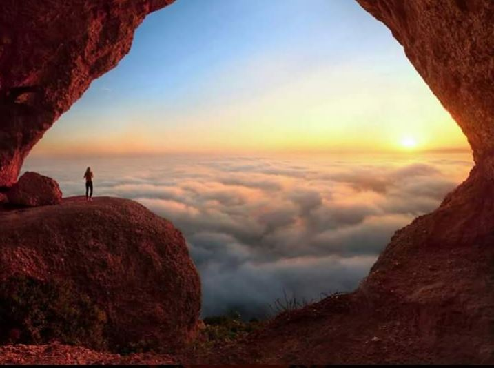 Cave above the clouds