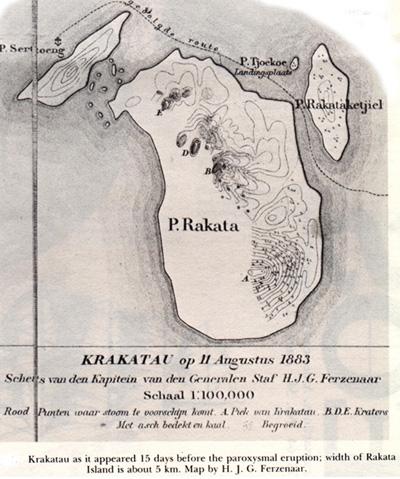 Contemporary map of Krakatoa
