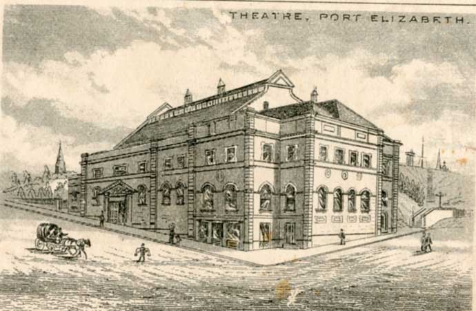 Engraving of the Opera house soon after it was built in 1892