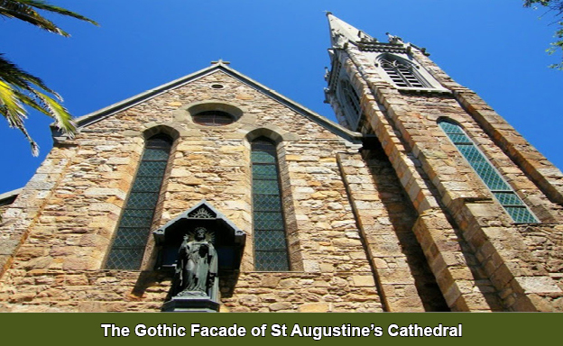 Gothic facade of St Augtine's Cathedral
