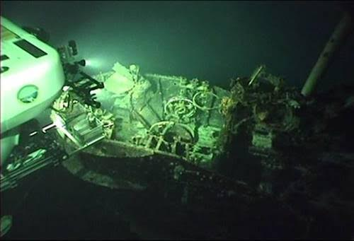 In 2005, dive researchers from the University of Hawaii discovered the remains of a massive Japanese submarine, I-401