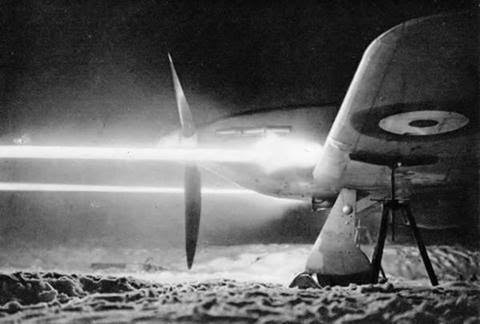 In their guns, fighter planes loaded every fifth round with a glowing tracer to help them aim correctly