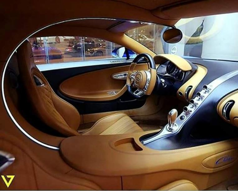 Interior of a Bagatti Chiron