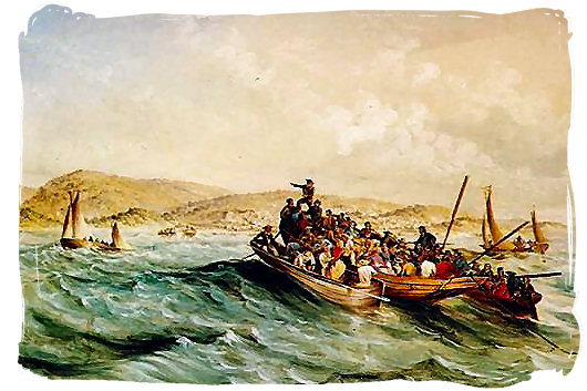 Landing of the 1820 British settlers at Algoa Bay