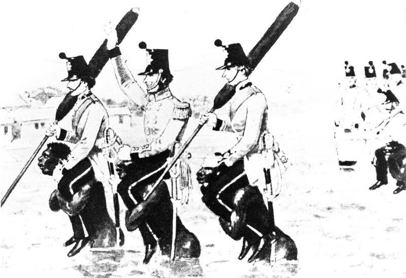 Mfengu offloading British soldiers