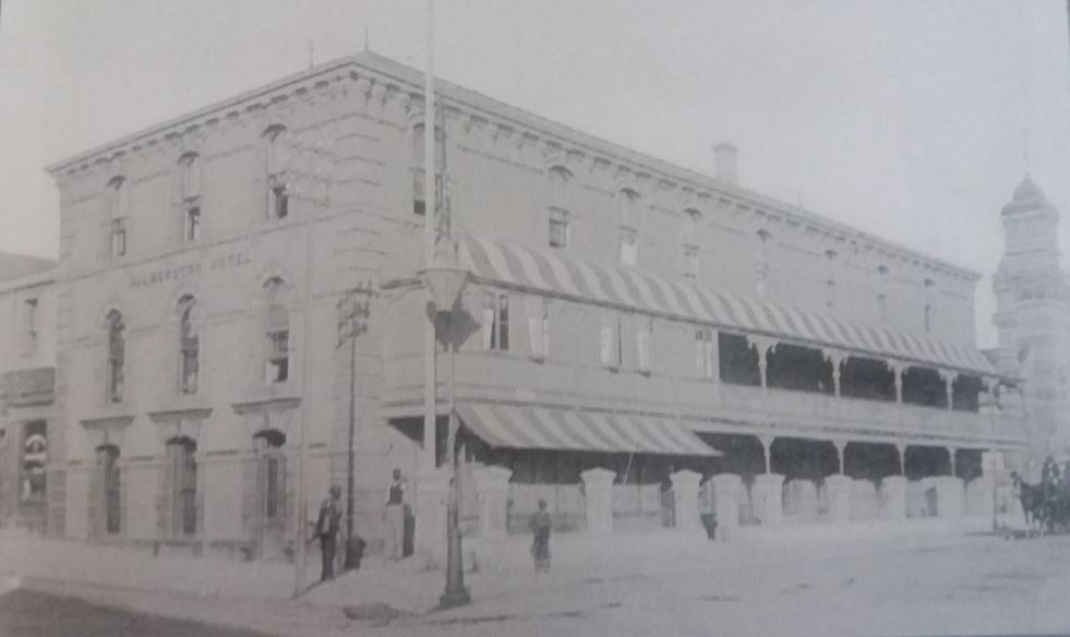 Minor changes to the Palmerston Hotel after James Raymond Rumsey had added a third storey