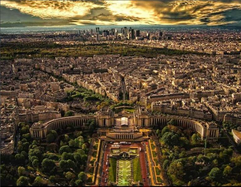 Paris viewed from the Eiffel Tower