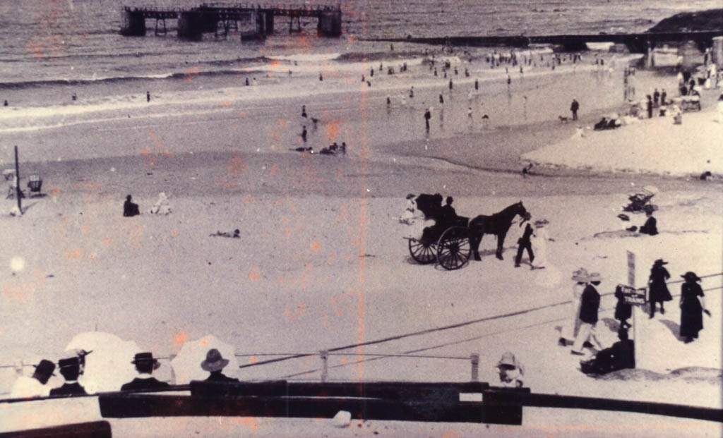 Even the horse and carriage could go ride on the beach.