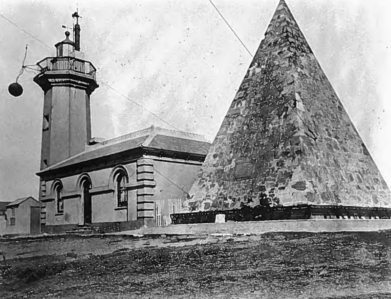 Signal Ball at Donkin Lighthouse in 1860s