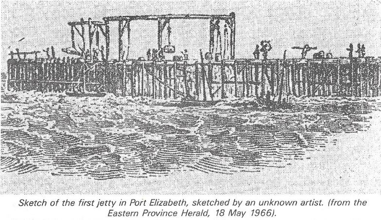 Sketch of the first jetty