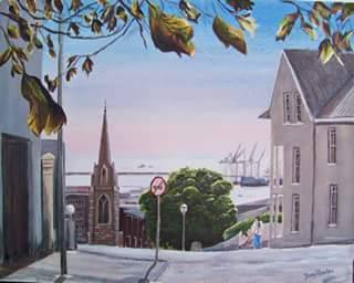 St Augustines Catholic Church-Painting by Barry Rhodes