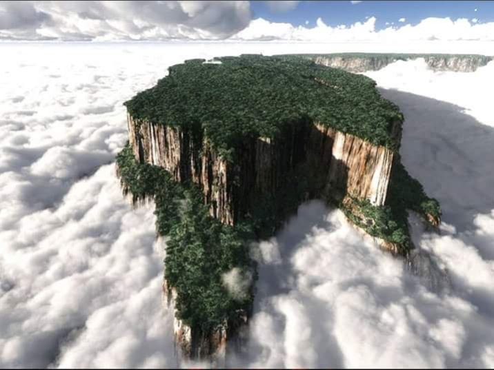 Tabletop mountains in Venezuela