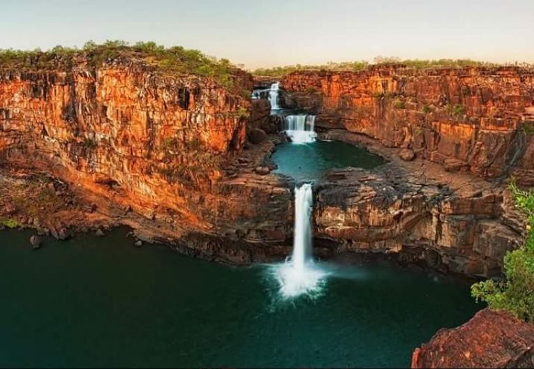 The Mitchell multi-level falls in Australia